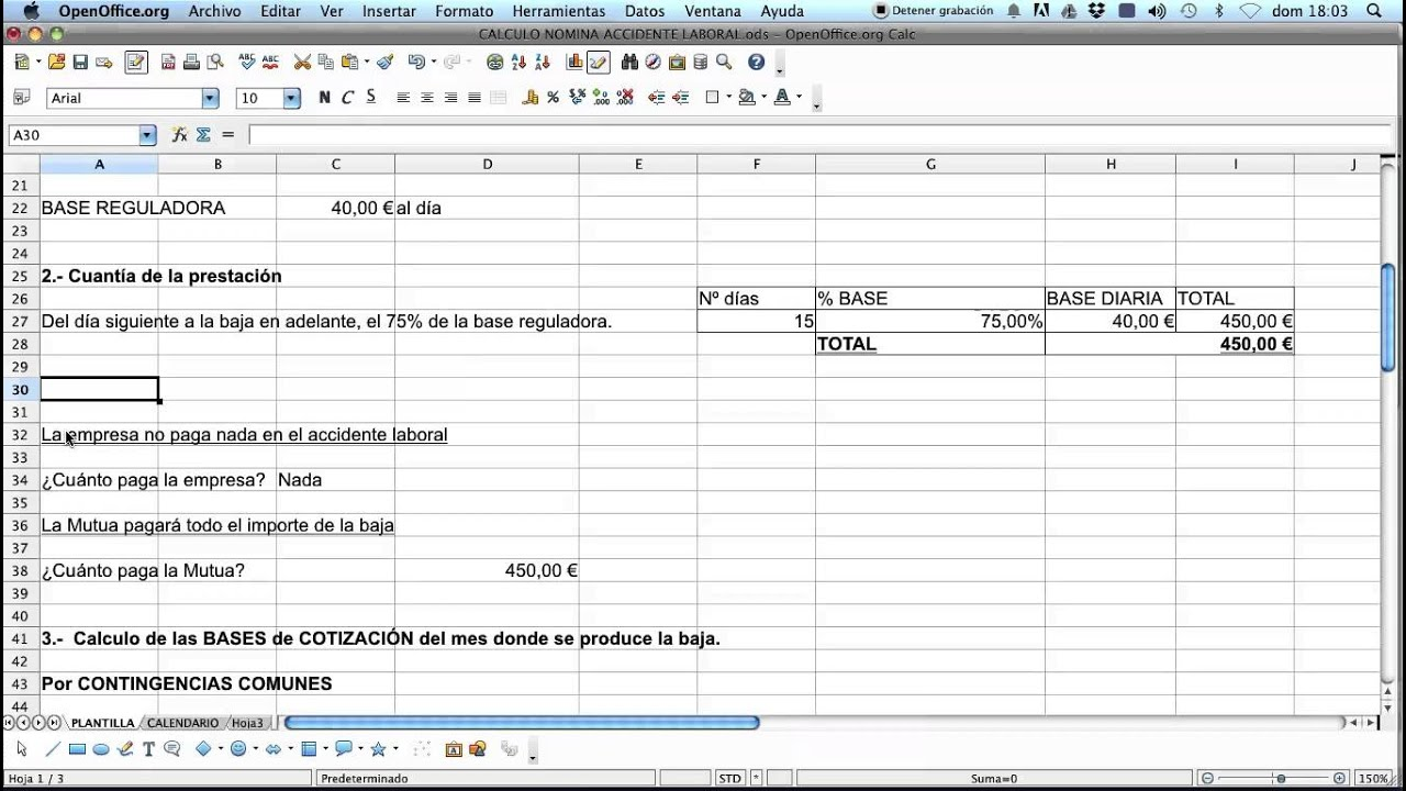 Nomina con baja por accidente laboral 2015 parte 1 youtube for Liquidacion de nomina ministerio de trabajo