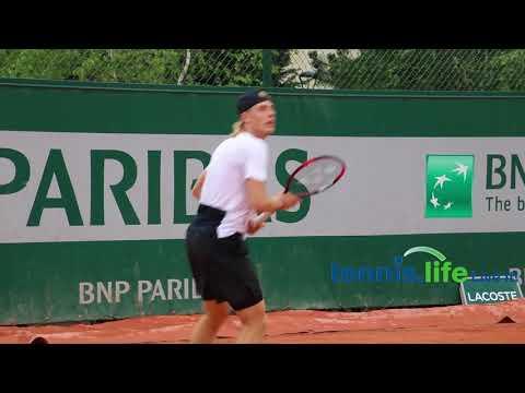 Denis Shapovalov, at practice