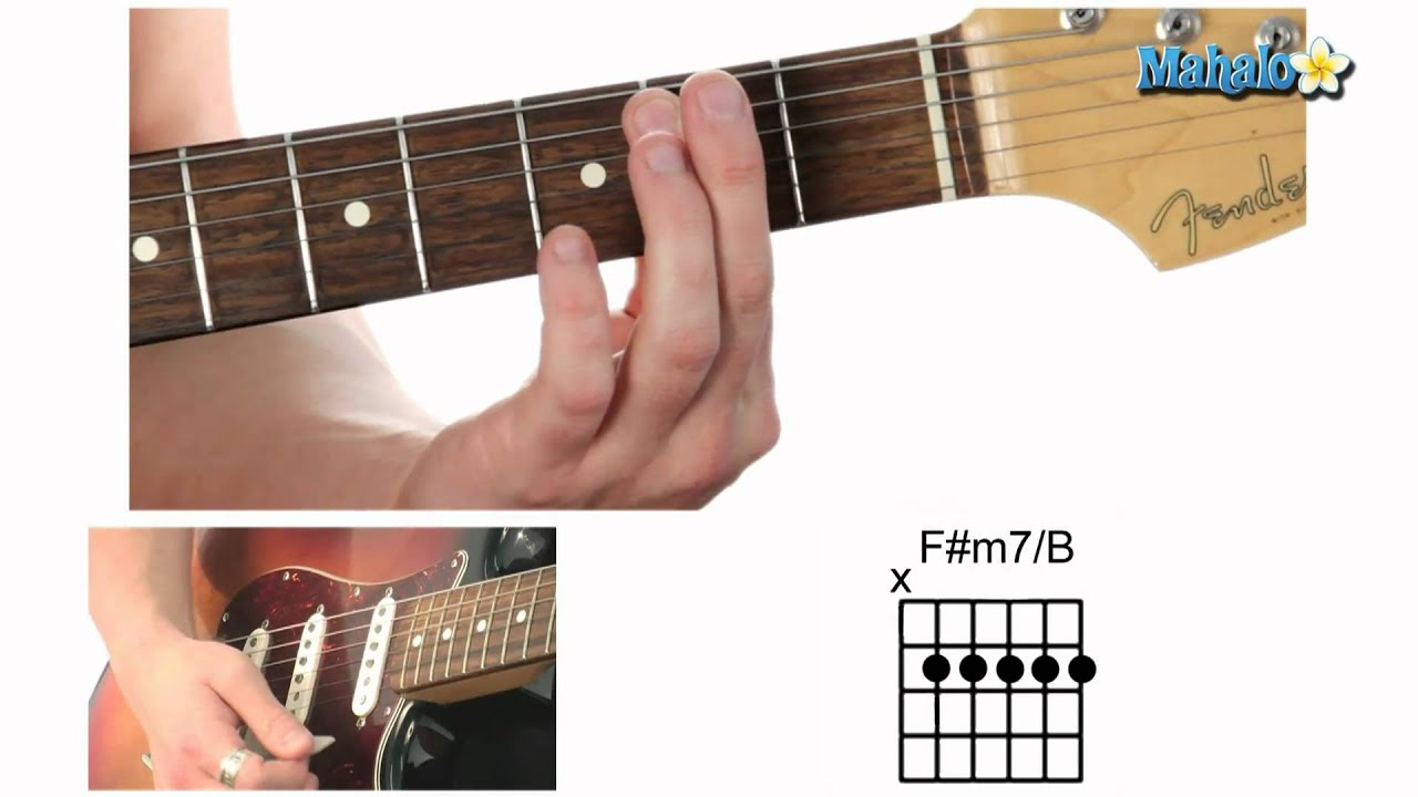 How to play an f sharp minor seven over b fm7b chord on guitar how to play an f sharp minor seven over b fm7b chord on guitar hexwebz Choice Image
