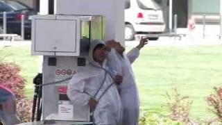 Homens da Luta fecham bomba de gasolina