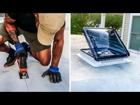 EASIEST DIY Roof Vent Install ( For Tiny House or Camper Van / RV ) | Fan Tastic Vent from YouTube · Duration:  6 minutes 22 seconds
