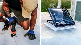 EASIEST DIY Roof Vent Install ( For Tiny House or Camper Van / RV ) | Fan Tastic Vent