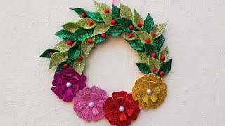 DIY Christmas Wreath Wall Decoration Made Using Best Out of Waste Materials   StylEnrich