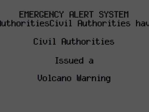 Emergency Alert System: Mount Rainier Eruption Scenario Travel Video