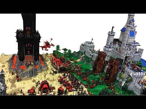 LEGO Castle MOC Huge Must See Display