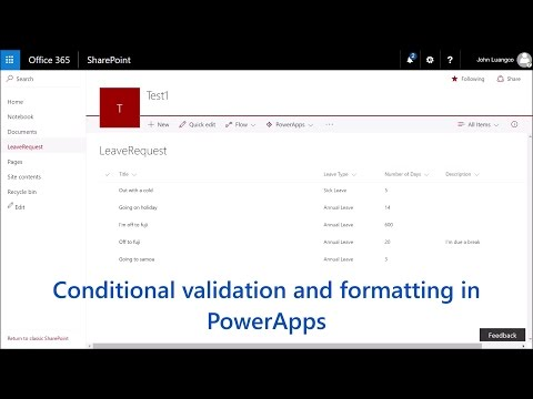 An intro to conditional validation and formatting in PowerApps