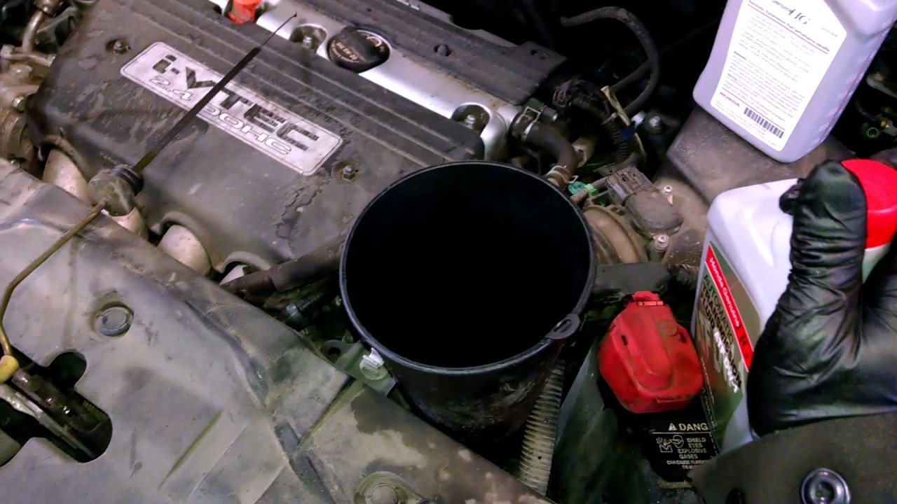 transmission fluid exchange drain and fill 2008 honda cr v