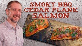 How to Grill Cedar Plank Salmon | Easy BBQ Recipe | BBQ&A