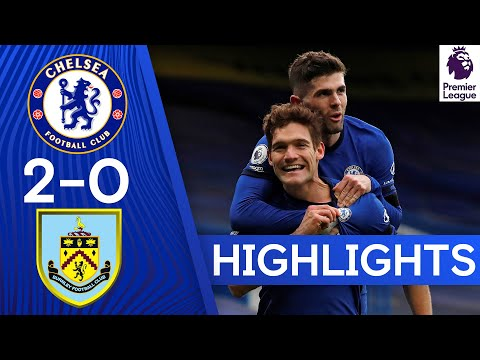 Chelsea 2-0 Burnley | Tuchel's First Win as Azpilicueta & Alonso Score! | Highlights