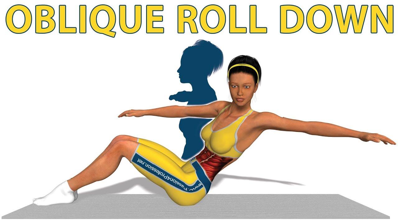 Exercices de Pilates: Oblique Roll Down - YouTubeOblique Exercises