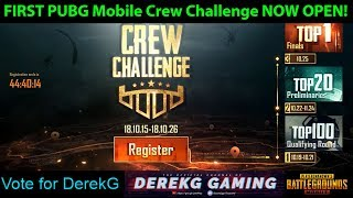What is PUBG Mobile CREW CHALLENGE in 0.9.0? Win Awesome Prizes!! DerekG