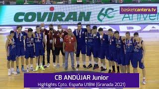 CB ANDÚJAR Junior. Reconocimiento por su excelente Cpto.España U18M (Granada 2021) #BasketCantera.TV