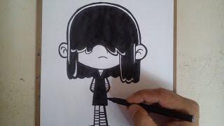 HOW TO DRAW  LUCY - THE LOUD HOUSE / como dibujar a lucy de una casa de locos