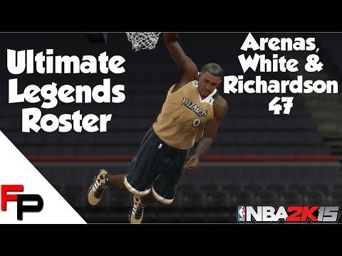 NBA 2K15 - Gilbert Arenas, Jo Jo White & Micheal Ray Richardson - Ultimate Legends Roster #47