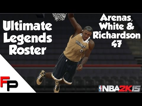 NBA 2K15 - Gilbert Arenas, Jo Jo White & Micheal Ray Richardson - Ultimate Legends Roster #47