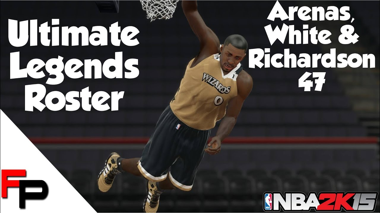 NBA 2K15 Gilbert Arenas Jo Jo White & Micheal Ray Richardson