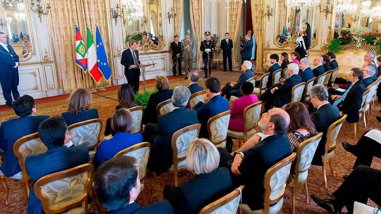 discorso del presidente mattarella alla delegazione