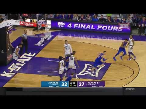 Kansas at Kansas State Men's Basketball Highlights