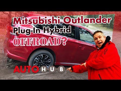 Mitsubishi Plug-in Hybrid Outlander 2017 und Habby Offroad unterwegs