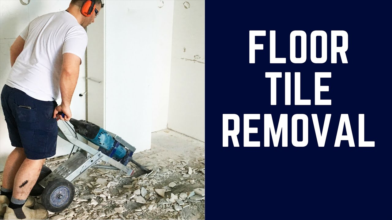 Floor Tile Removal - Watch this Video to see a Gang of Tradesmen ...