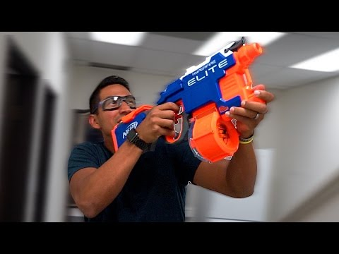 Epic Office Nerf Battle!