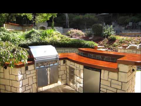 eldorado hills outdoor kitchen with wood burning fireplace by gpt construction masonry and design