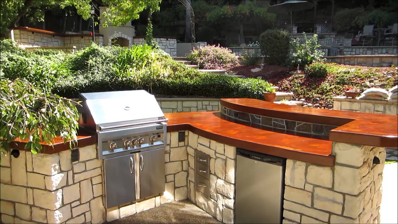 Eldorado hills outdoor kitchen with wood burning fireplace for Eldorado outdoor cabinets