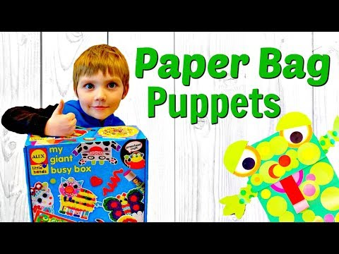PAPER BAG PUPPET | ARTS AND CRAFTS FOR KIDS | Alex Busy Box | BrothersFunAdventures