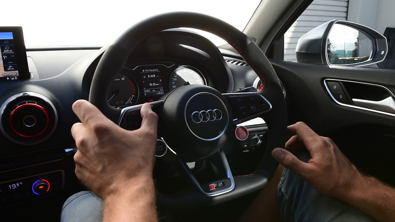 Audi R8 Steering Wheel Installed Onto Audi A3 8v With Full
