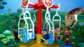PATRULLA CANINA en el TIOVIVO MAGICO! PAW PATROL toys Patrulla de cachorros juguetes PUPS