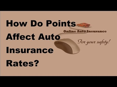 2017 Auto Insurance Rates | How Do Points Affect Auto Insurance Rates