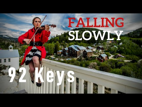 Falling Slowly - Glen Hansard (Once) - Violin and Piano Cover by 92 Keys