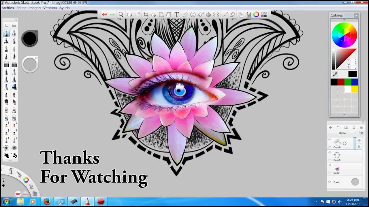 Como dibujar mano de Fatima Hamsa  YouTube