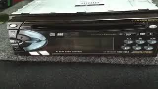 Estereo radio AM FM CD Alpine stereo Old School