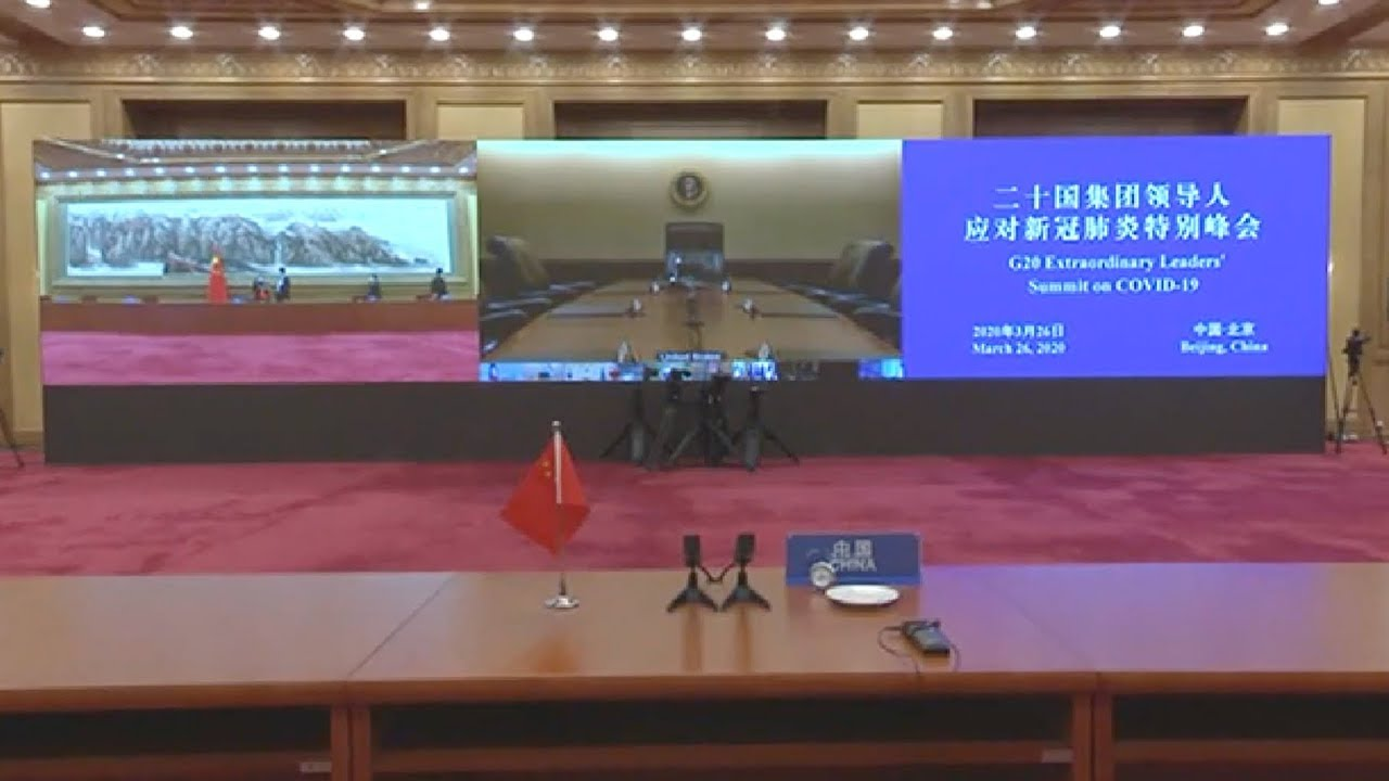 Chinese President Xi Jinping attends G20 virtual summit on COVID-19