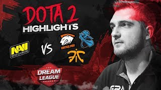 NAVI Dota2 Highlights vs VP, Fnatic, Newbee @ DreamLeague S8 Finals