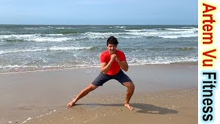постер к видео Fat Burning Great BEGINNER WORKOUT AT HOME without equipment #ArtemFitness