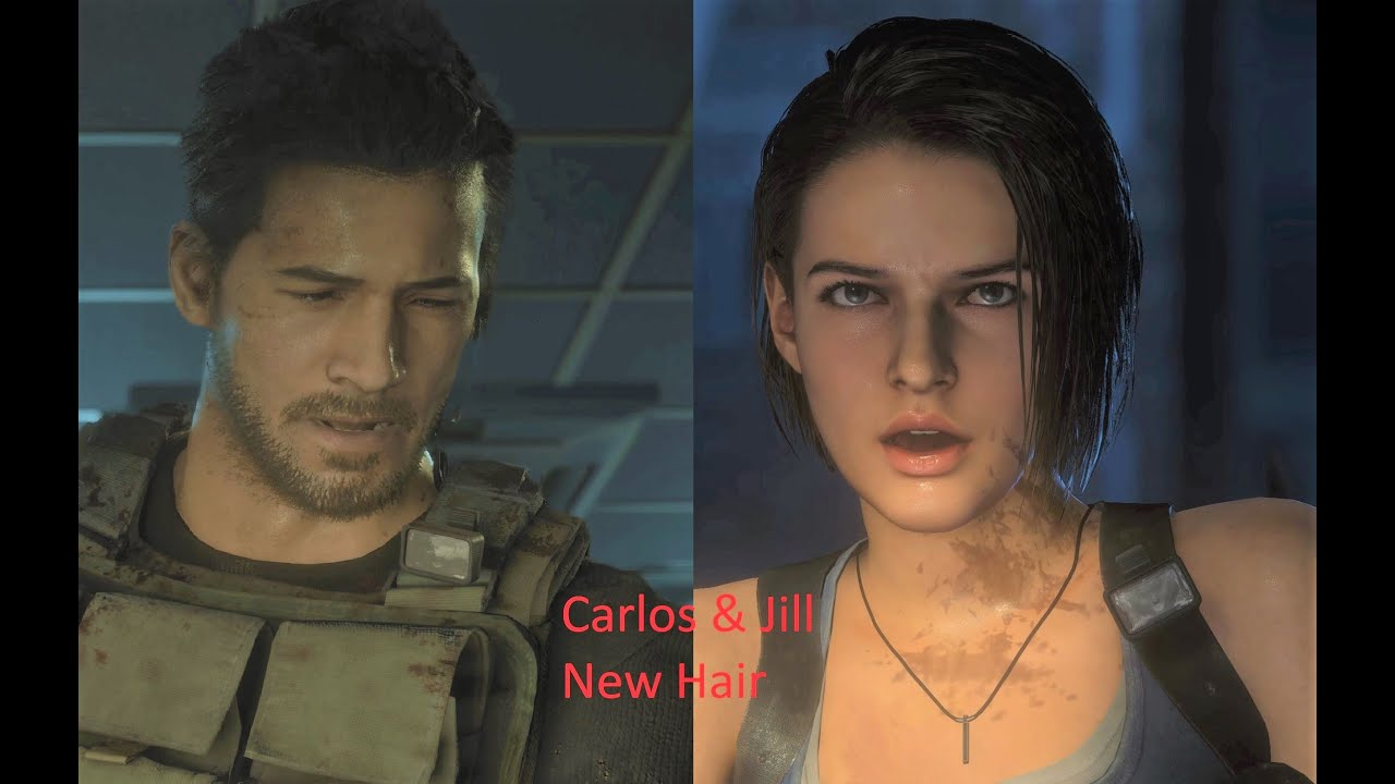 Resident Evil 3 Remake Jill And Carlos New Hair Style Youtube