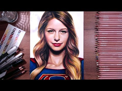 Drawing Supergirl (Melissa Benoist) | drawholic