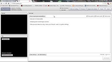 Your webcam is showing no activity chatroulette | Solucionado