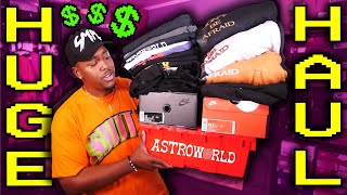 INSANE CLOTHING AND SNEAKER HAUL! 20+ NEW PICKUPS! NIKE, EARLY JORDANS, ASTROWORLD MERCH & MORE FIRE