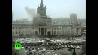 Момент взрыва на вокзале в Волгограде