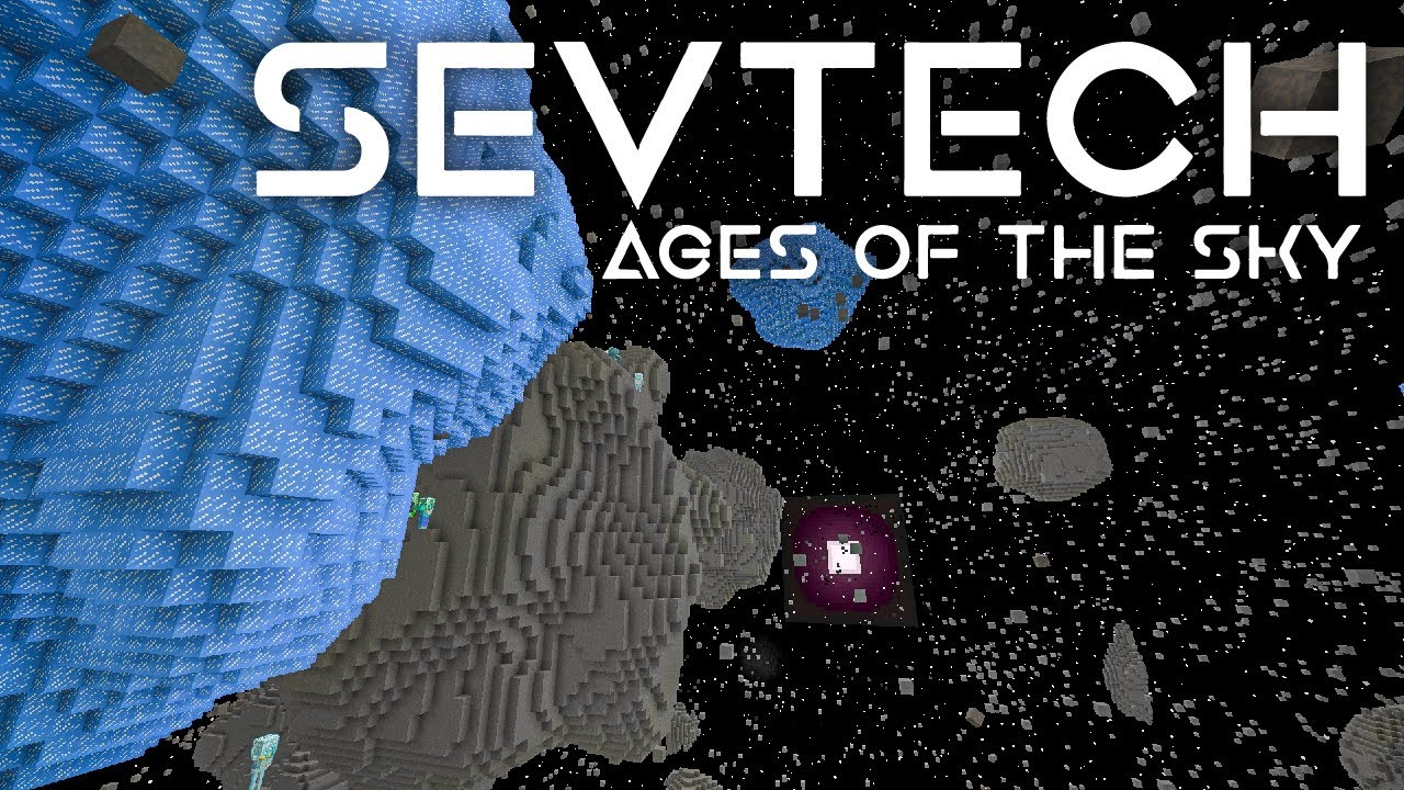 SevTech: Ages of the Sky Ep. 46 Galacticraft Asteroid Belt