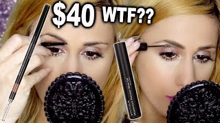 TESTING $40 YOUNIQUE Brow Gel and Liner WTF?!
