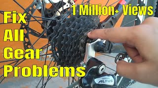 How To:  Repair Cycle/MTB Gears | Gear Not Shifting Solution | Gear Cycle Service