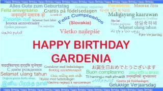 Gardenia   Languages Idiomas - Happy Birthday