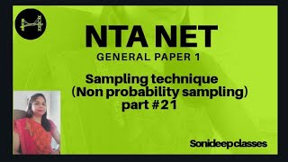 Sampling :Non probability sampling