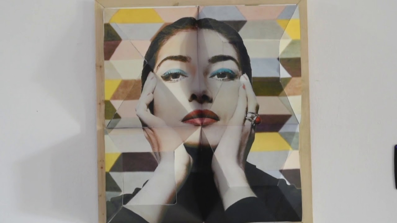 Maria Callas modern Art exhibition in Sirmione. Anamorphic creations in Italy