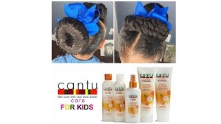 Cantu Care For Kids Line Demo/Product Review | Kids Natural Hairstyles | IAMAWOG