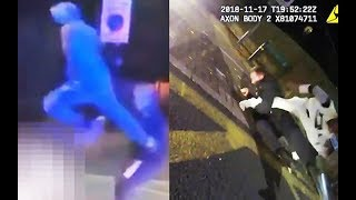 Brutal attack on London police officers caught on video